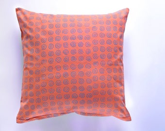 decorative pillow | 16x26 | 20x20 | 26x26 | pillow cover | batik | orange purple | sham | throw pillow | cushion cover | home decor | gift