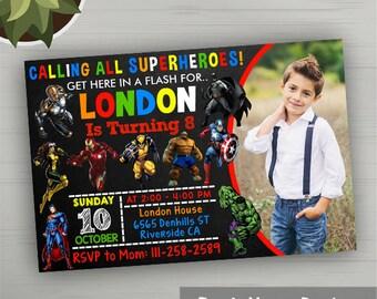 Superhero Invitation, Superhero Birthday Invitation, Superhero Party, Superhero Invites, Superhero Party Favors, Superhero Printables