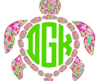 Lilly Pulitzer Inspired Sea Turtle Print