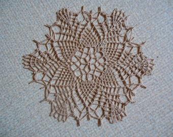 """""""Lychee"""" round crochet doily"""