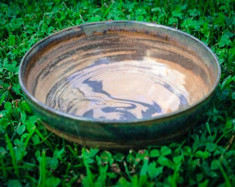 Marbled Stoneware Serving Bowl