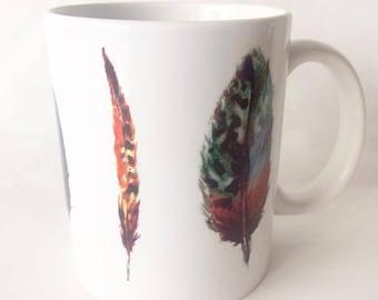 Feather print mug 2 110z