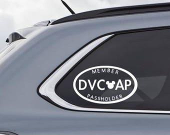 Disney Vacation Club Etsy - Disney custom vinyl decals for car