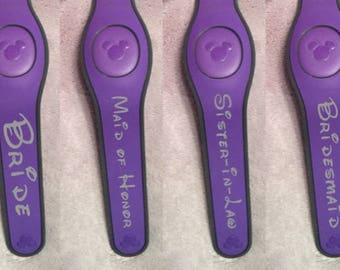 Wedding, Bachelor, or Bachelorette Party and Honeymoon and Family Decals for Disney Magic Bands - Custom Decals
