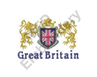 Great Britain - Machine Embroidery Design