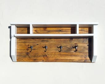 Rustic Coat Rack and Mail Holder