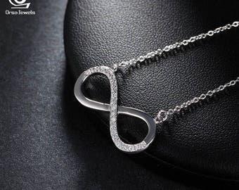 Platinum Plated Infinite Love Pendant