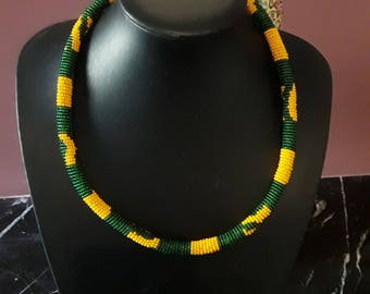 Necklace / necklace beaded South African art