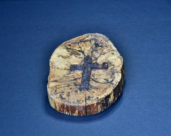 Spalted wood cross - 007