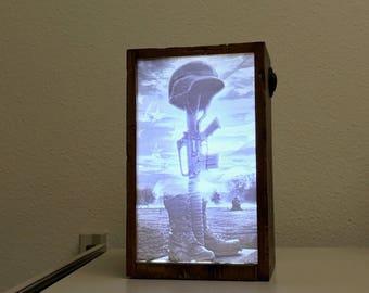 Unique and Memorable Military Gift..Fallen Soldier Memorial