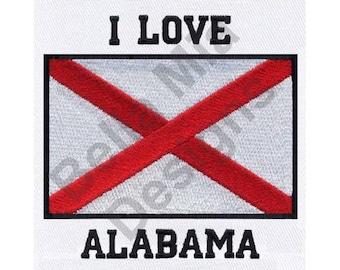 Alabama Flag - Machine Embroidery Design, Alabama, Flag
