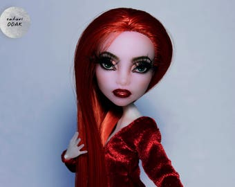 "OOAK Monster High Repaint Doll Custom ""Lust"" by satori"