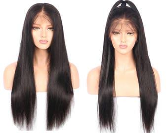Brazilian Straight Lace Front Human Hair Wig Versatile