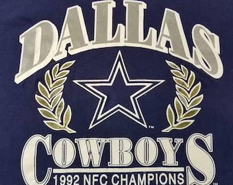 Vintage 90s 1992 Dallas Cowboys NCF Champs Shirt Size XL