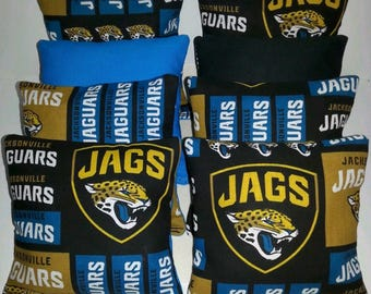 Set Of 8 Jacksonville Jaguars Cornhole Bean Bags FREE SHIPPING