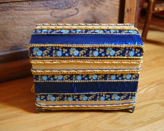 Gorgeous blue and gold jewelry box
