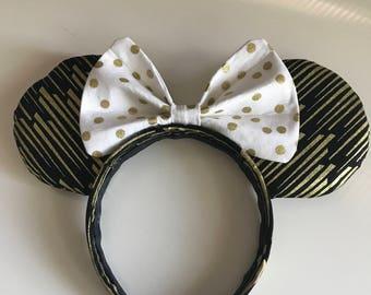 "Handmade ""Roaring 20's"" Minnie Ears"