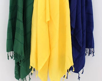 My rock solid yellow peshtemal, yellow beach towel, coton beach towel, peshtemal, throws, bath towel, soft towel, wedding, bridesmaids gift