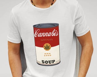 Mens Cannabis Soup Parody Of Campbell's Soup That 70's Show - White T-shirt
