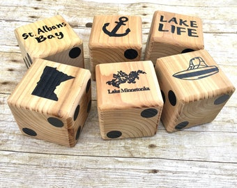 Yard Dice, Happy Camper, Gift For Family, Camping Games, Outdoor Fun,