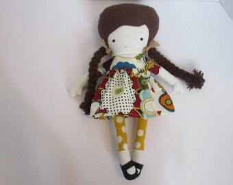 Fabric doll rag doll handmade- Gabriella
