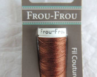 All textiles Frou-Frou Brown sewing thread