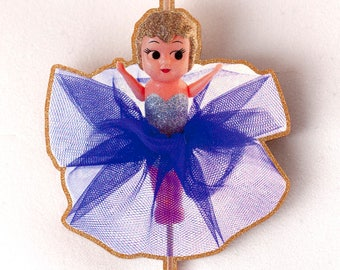 Kewpie Queen brooch - Kewpie doll on a stick