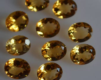 9x11 mm natural citrine oval faceted  loose gemstone AAA quality