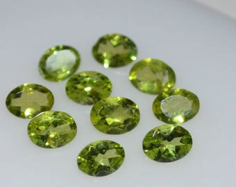 5x7 Natural peridot faceted oval gemstone-AAA quality