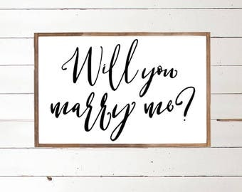 Will you Marry Me | Wedding Proposal Sign - Marry Me - Proposal Art - Engagement Sign - How do I propose - Couples - Marry Me - Socialshanty
