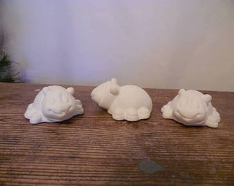 Ceramic Bisque Ready to Paint Three Ladybugs with Shoes.