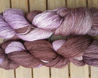 Wool hand-dyed baby alpaca silk cashmere