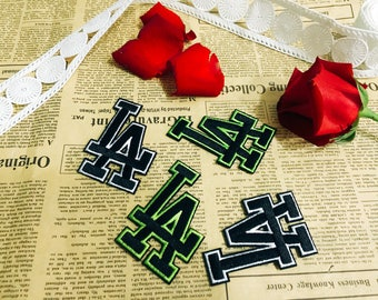 LA iron on patch,Los Angels patch,wording patch,embroidered patch,letter patch, iron on hats, jackets, shoes, DIY