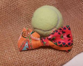 Orange Paisley Bowtie