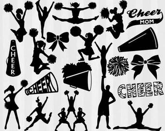 Cheerleader svg, Cheer svg, Cheerleading svg, Cheer svg files SVG, DXF, PNG, Silhouette Studio,Cricut Design Space, clipart, cuttable design