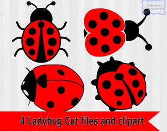 Ladybug svg, ladybug Clipart, ladybug download, dxf files, svg files, svg files for silhouette, svg files for cricut, lady bug svg, vector