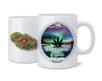Weed Coffee Cup. Northern Lights Weed Coffee Cup. Northern Lights. Coffee Mug. Cannabis Coffee Cup. Cannabis Coffee mug. Weed Coffee Mug.