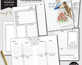 Weekly printable Micro- size, Weekly Plan Printable Planner Insert.  CMP-224.6