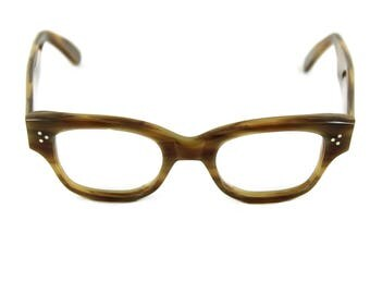 Handmade spectacles Bold artistic, beatnik 'HOWARD' Havana Olive Contemporary unisex Style, inspired by original 1950s 60s designs. Rx ready