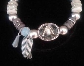Gray Feather Bracelet