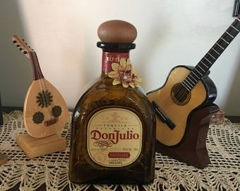 Don Julio liquor bottle with beautiful LED battery bottle light of amber.