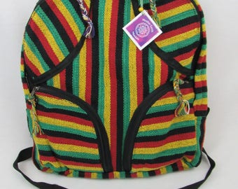 rastafarian fair trade backpack