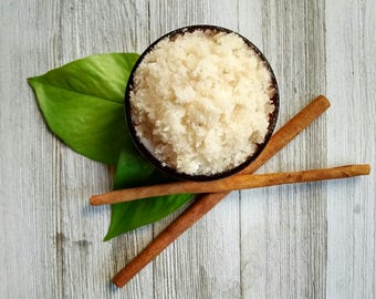Cinnamon Sugar Scrub, Organic Sugar Scrub, Body Scrub, Vegan Skincare, Body Polish, Natural Sugar Scrub, Essential Oil Scrub, Peace Organics