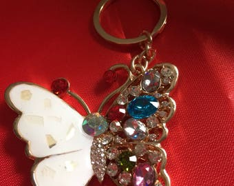 Beautiful Butterfly Key Ring,