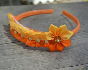Free shipping : Orange headband