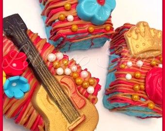 12 Elena of Avalor rice krispie treats (Birthday, party favors, Chocolate, disney junior, disney princess)