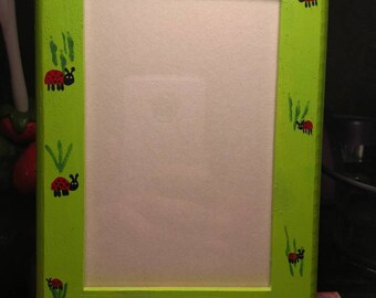 Hand Decorated 4x6 Picture Frame