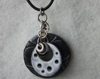 Enameled Whimsical Charm Pendant Necklace