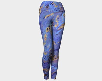Polar Spirit Yoga Leggings,purple yoga leggings, blue leggings,artistic leggings,