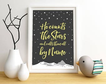 Starry Night print | Home decor | Printable artwork | Artwork | Poster design | Instant download | digital poster